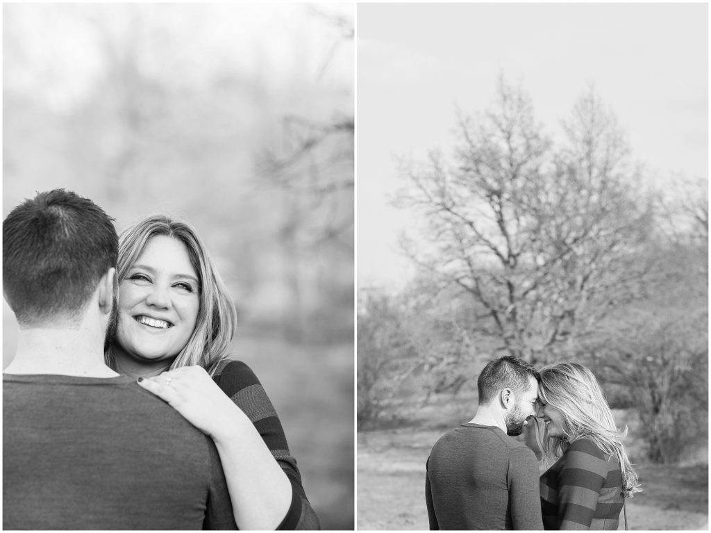 Natural wedding photography London engagement session with happy couple and nature
