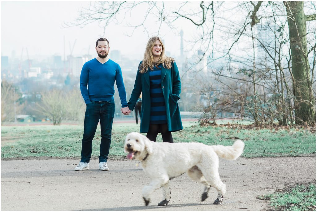 relaxed engagement session Hampstead