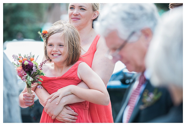 Flower girl smiling