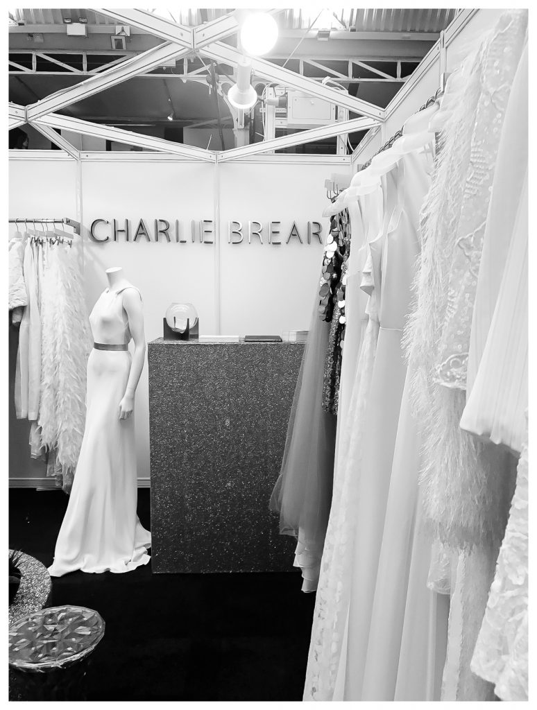 Charlie Brear bridalwear 2018 wedding trends at Brides the Show