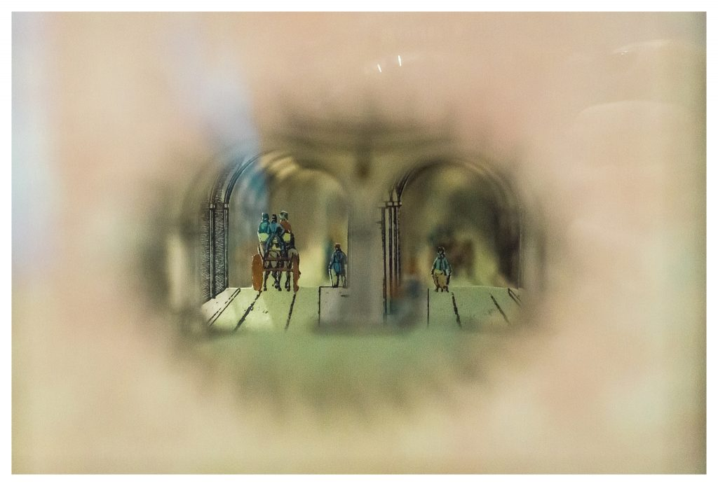 Stereoscopic peep show in The Engine Room of the Brunel Museum in Rotherhithe
