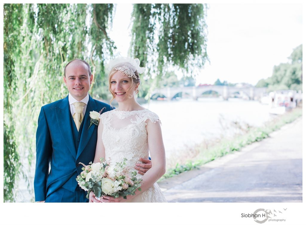 Bride and groom at their Bingham hotel Richmond wedding