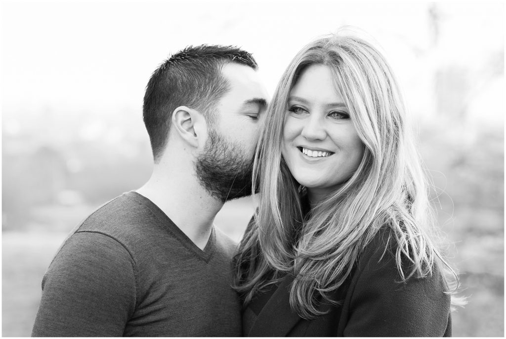 black and white photography engagement session in Hampstead Heath London