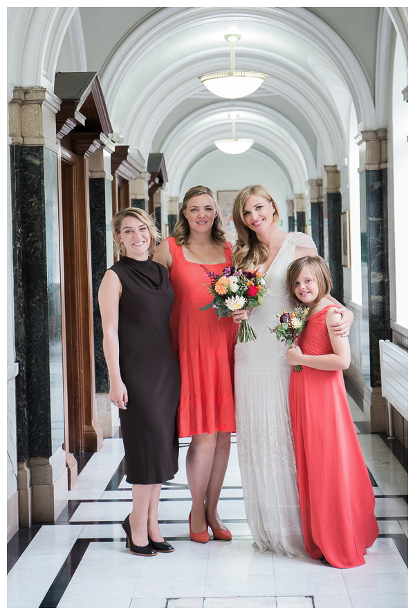 Bridal party in Islington town hall