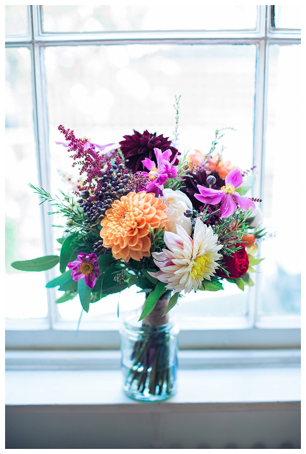 wedding bouquet with autumnal flowers