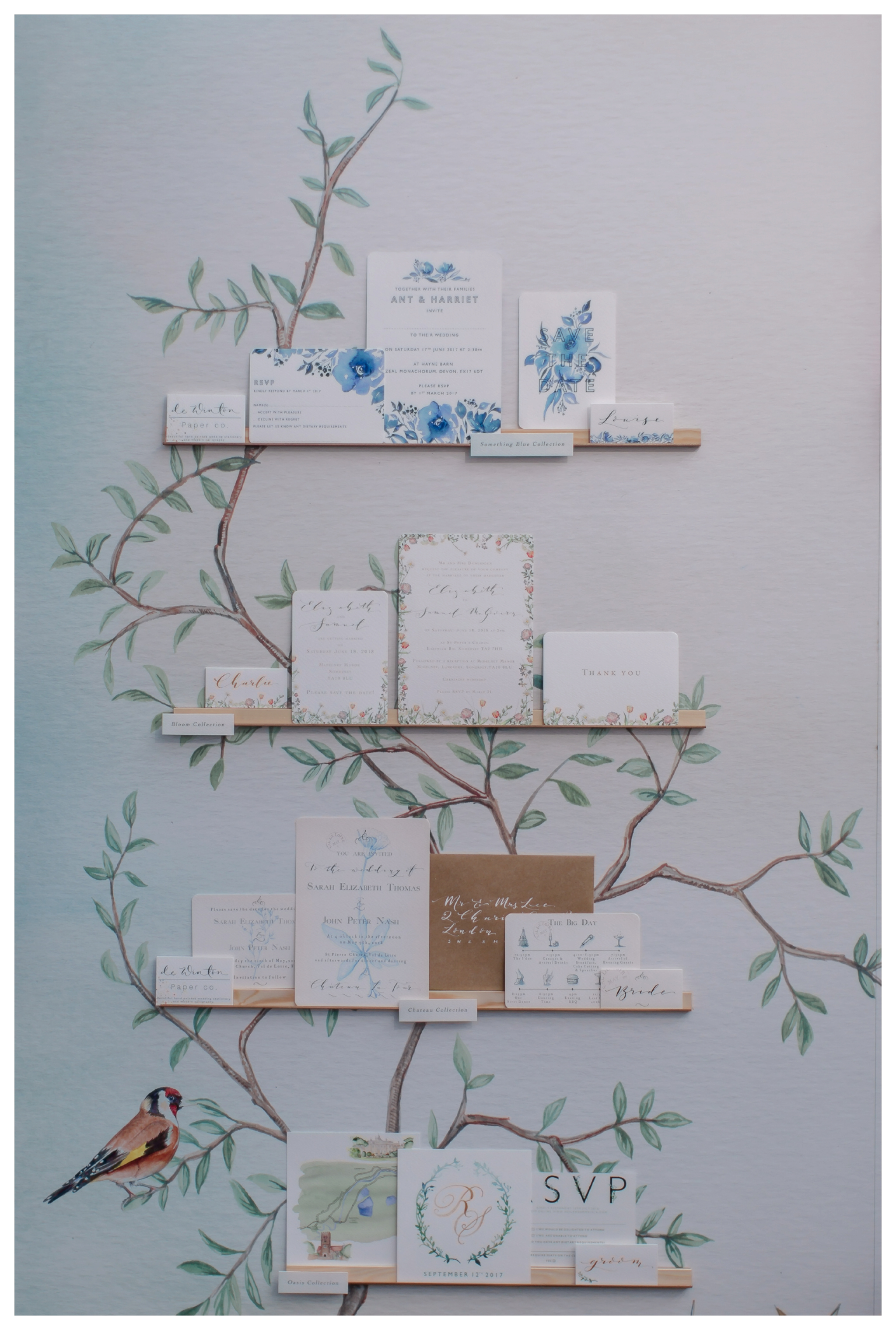 luxury wedding stationery from de Winton paper company at Brides the Show 2018 wedding trends