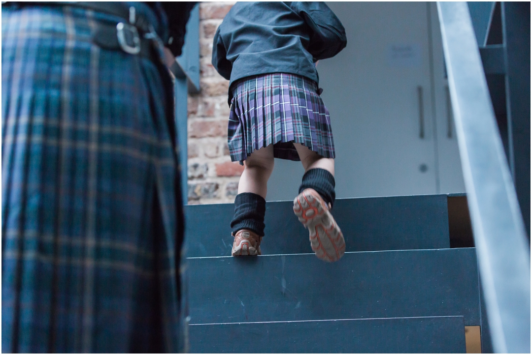 Kilts at London wedding