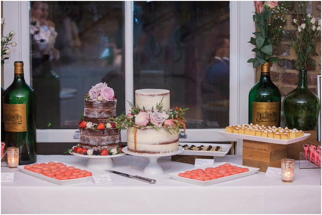 Dessert table at London wedding venue in Islington