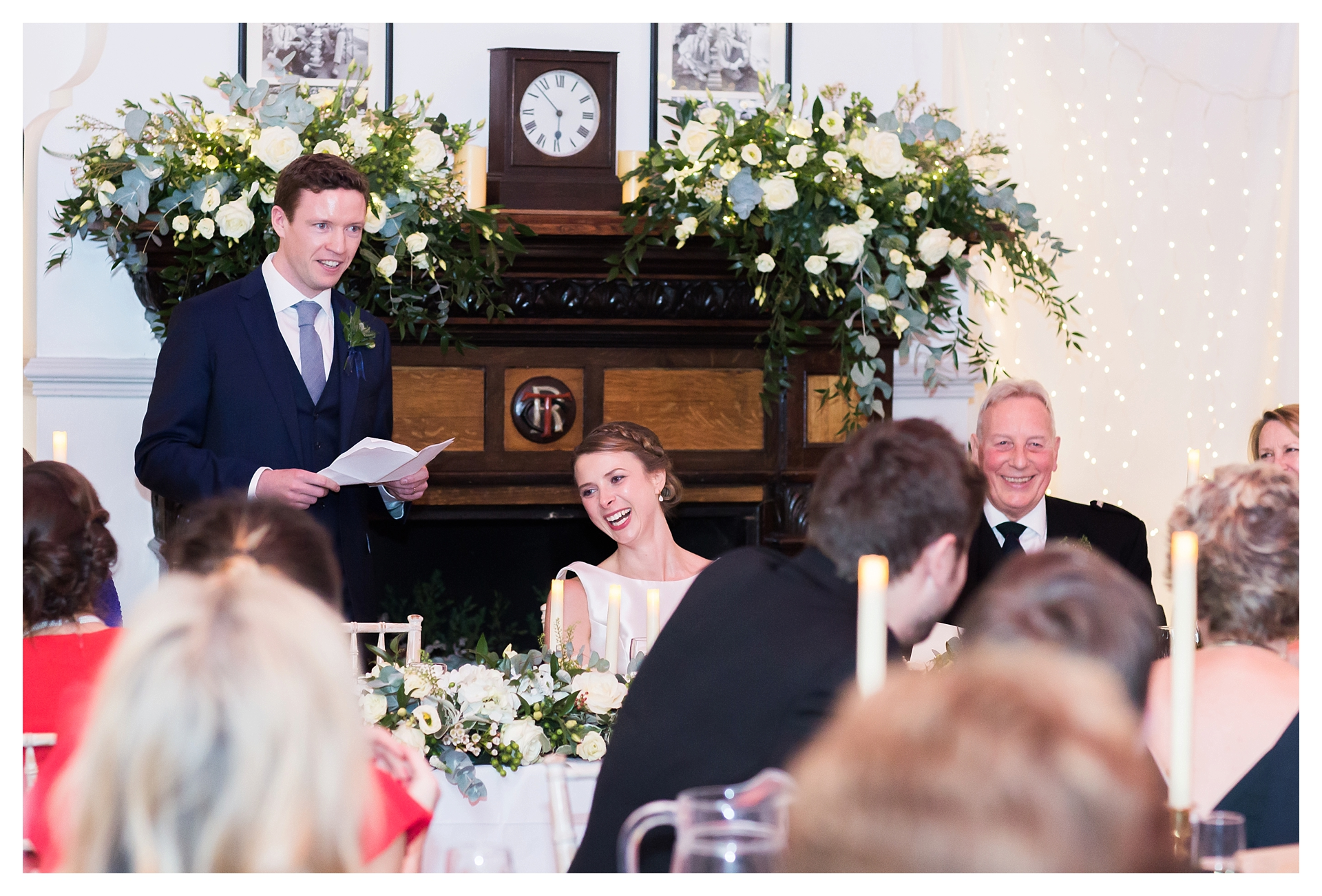 winter wedding in London Thames Rowing Club
