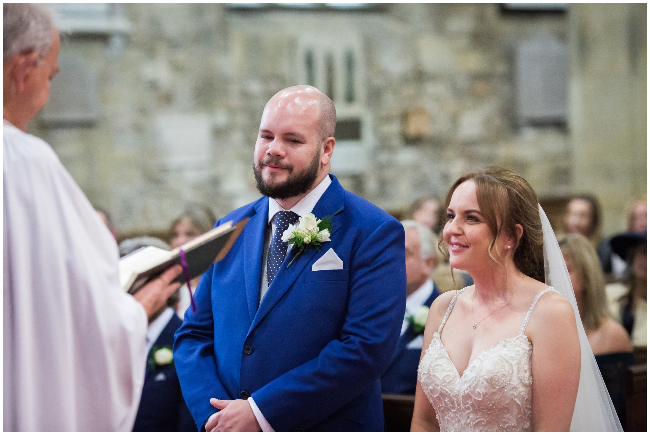 Couple getting married at St Swithun's church in East Grinstead