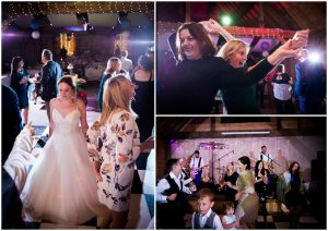 Wedding guests dancing at the Yoghurt Rooms in East Grinstead