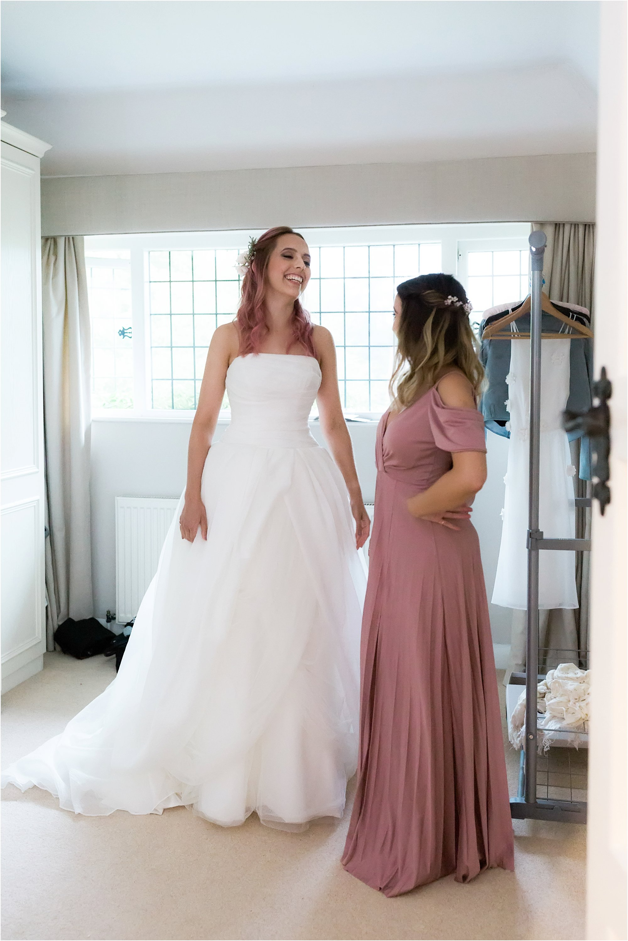 Bridal party getting ready in Surrey