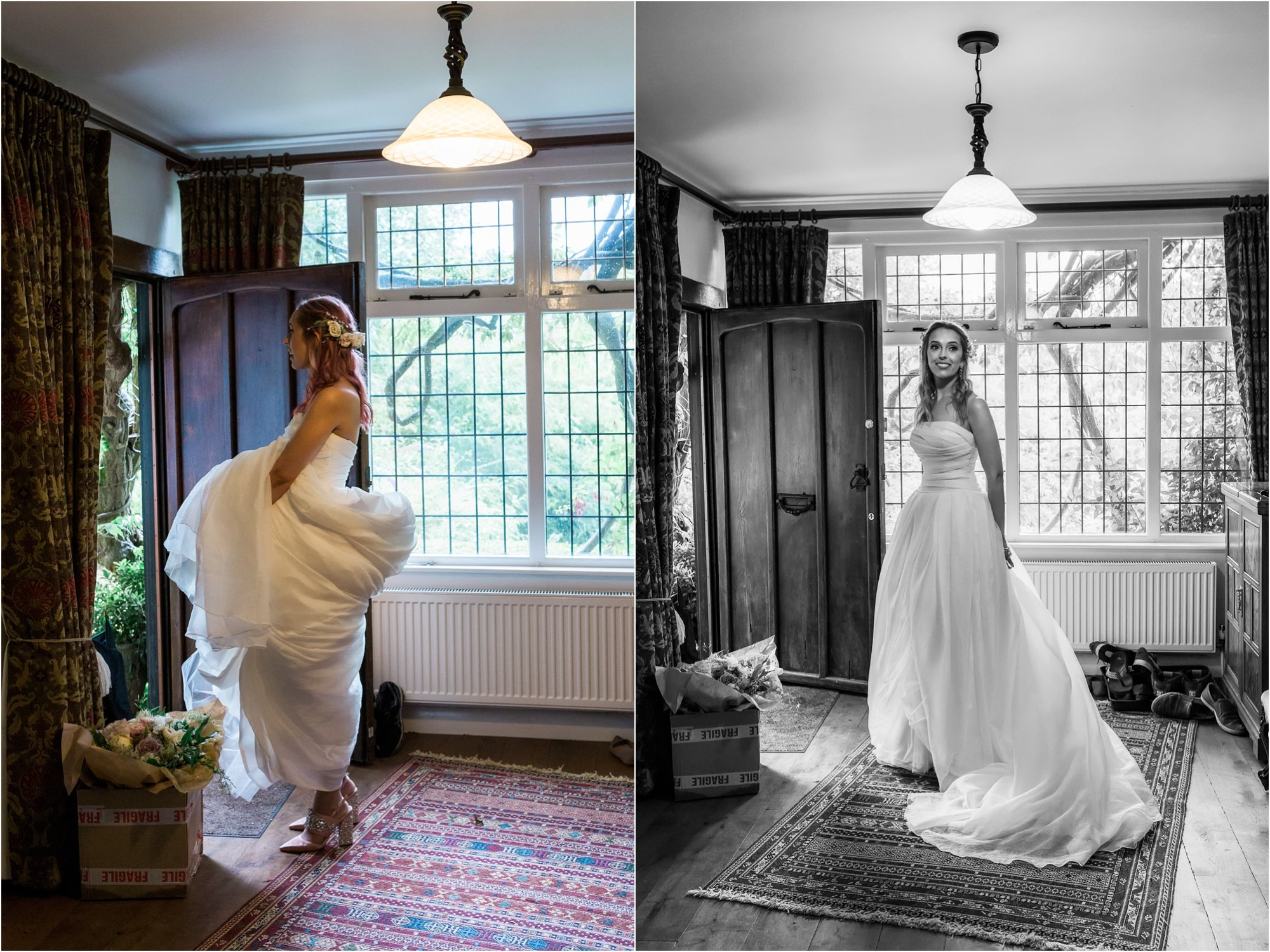 bride before leaving for her wedding