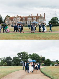 Loseley Park wedding in the rain
