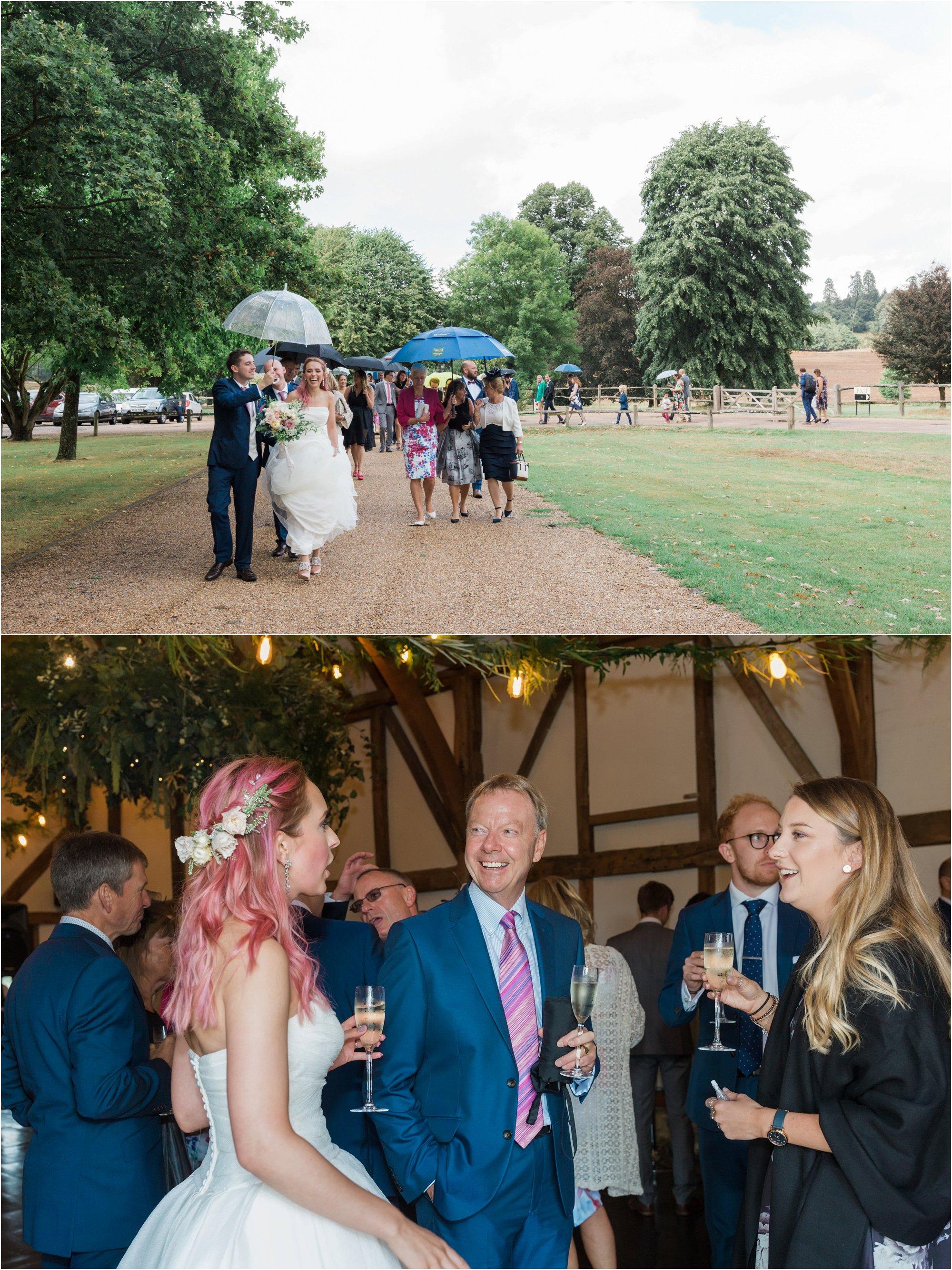 Loseley Park wedding in the rain