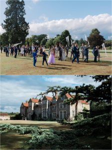 Loseley Park second line wedding parade