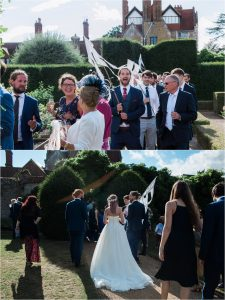 Loseley Park second line wedding parade