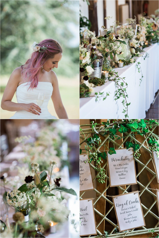 Loseley Park tithe barn wedding reception decoration