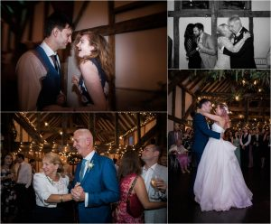 Guests dancing at Loseley Park wedding reception