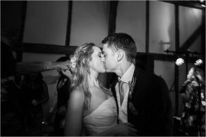 Bride and groom at Loseley Park Surrey wedding