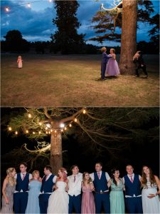 Evening reception at Loseley Park tithe barn