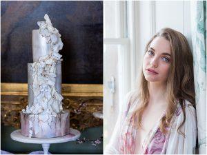 Wedding cake with beautiful model