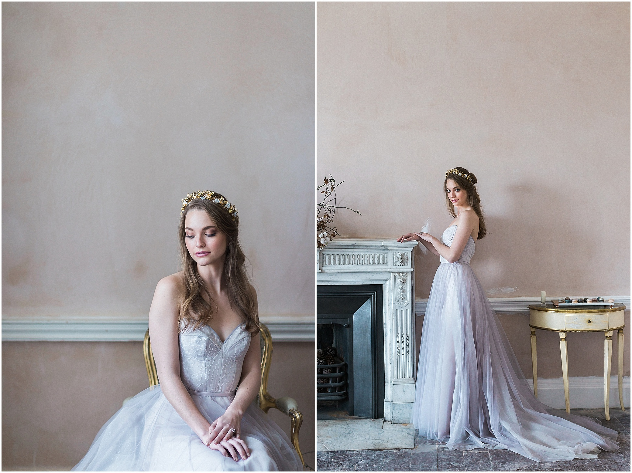 Beautiful bride at Somerley House in Hampshire