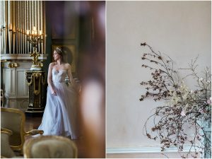 Beautiful bride dancing at Somerley House in Hampshire
