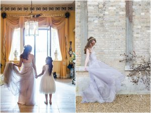 Bride with flower girl and dancing at Somerley House