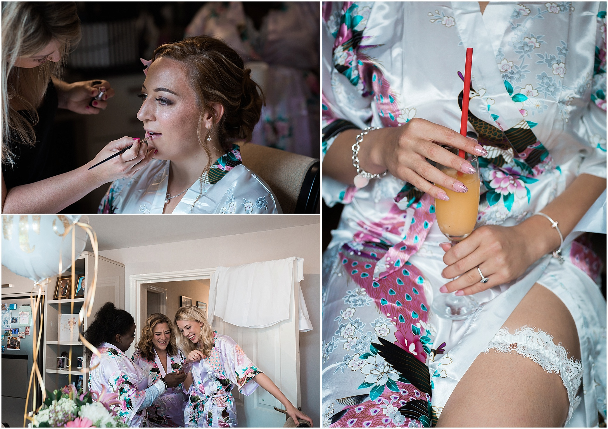 Bride getting ready for her wedding in London