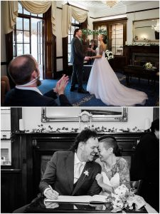 wedding ceremony at Leatherhead registry office