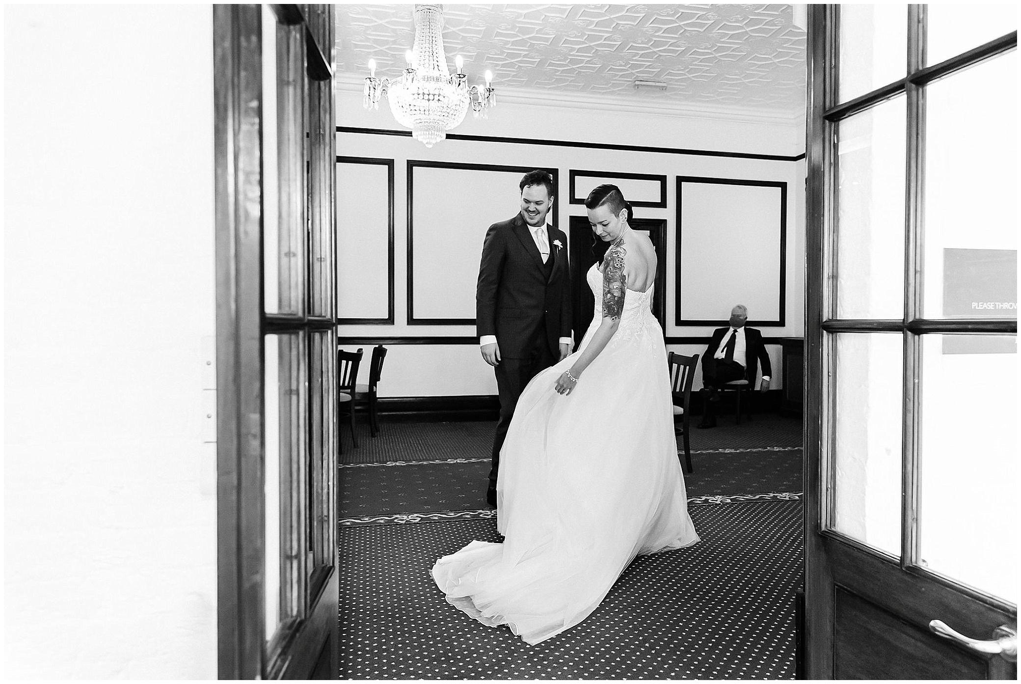 wedding ceremony at Leatherhead registry office